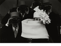 givenchy hat b, paris, for jardin des modes by frank horvat