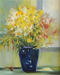 spring collection with daffodils by pauline merry