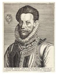 portrait alexander farnese, herzog von parma, statthalter in den niederlanden, im auftrag von könig philipp ii. von spanien by harmen jansz von müller