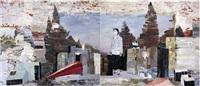 desolate wood (diptych) by qiu xiaofei