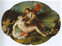 apollo und amor in einer landschaft by peter jansz van ruyven
