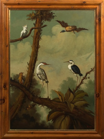 birds in a tropical landscape by ira monte