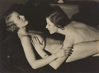 untitled (two female nudes) by heinz von perckhammer