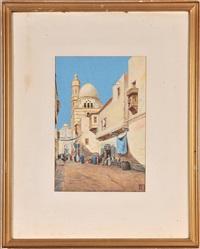 straßenszene aus cairo by vittorio rappini