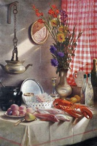 nature morte au homard by jean-joseph enders