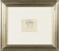 étude de cheval (study) by rené magritte