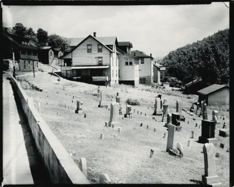 houses and graveyard rowlesburg by walker evans