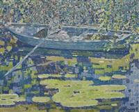 girl in a boat by louis ritman
