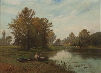 a view in connecticut by edward b. gay