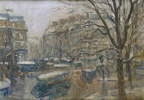 paris carrefour animé by louis abel truchet