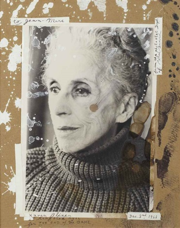 karen blixen in rungstedland for the end of the game, dec. 3rd by peter beard