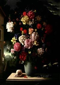 bouquet de fleurs au coquillage by hans maas