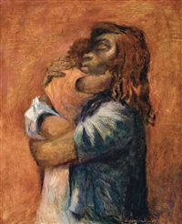 aboriginal mother and child by noel jack counihan
