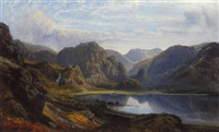 the head of derwentwater and borrowdale from the raven crag near barrow by charles pettitt