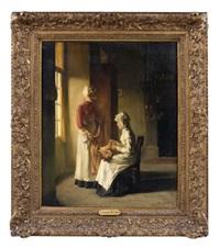 deux couturières dans un intérieur by joseph bail
