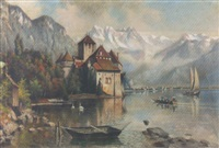 château chillon am genfersee by franz adolf christian müller