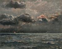 marine par temps orageux by alfred stevens