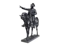 an equestrian bronze of napoleon by ernest-charles-dèmosthène guilbert