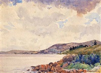 albany harbour by george courtney benson