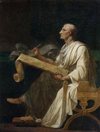 cicéron écrivant by jean françois pierre peyron