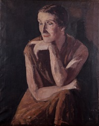 portrait of a woman by léopold gottlieb