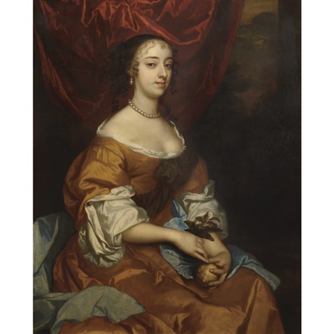 portrait of the actress margaret hughes c 1645 1719 by sir peter lely