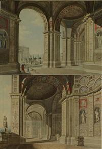 roman architecture (2 works) by giovanni volpato