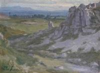 rochers dans un paysage by victor koos
