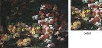 fruits et fleurs sur un entablement by aniello ascione