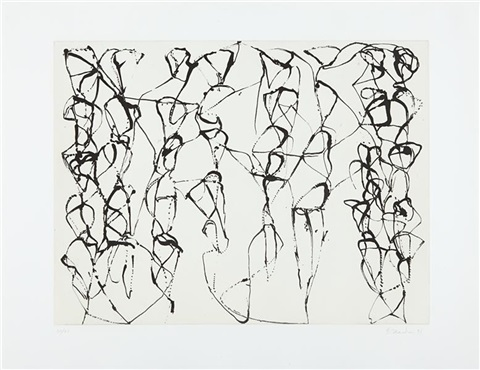 cold mountain series zen studies 1 6 plate 6 by brice marden
