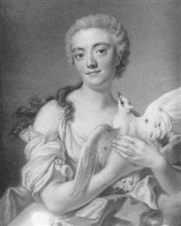 jeune femme tenant une colombe by pierre allais