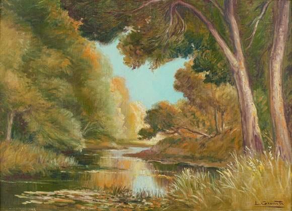 bord de rivière en automne by l granata