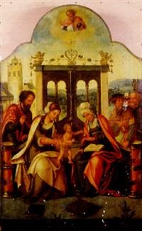 la sainte famille avec sainte anne by jan van dornicke
