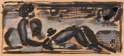 nu allongé by georges rouault