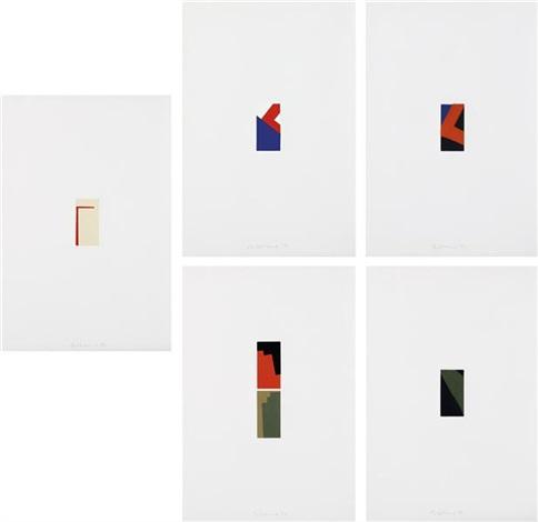 fünf miniaturen (five miniatures) (set of 5) by blinky palermo