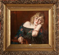 jeune femme à la cigarette by médard tytgat