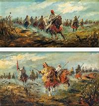 carrera de caballos árabes (pair) by emilio álvarez ayllón (ayón)