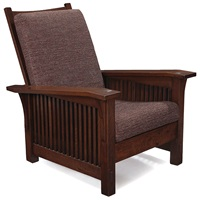 morris chair, #369 by gustav stickley