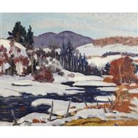 winter landscape, quebec by randolph stanley hewton