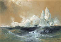 icebergs by thomas moran