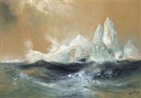 icebergs by thomas moran