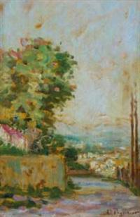paysage dans les environs de menton by auguste pegurier