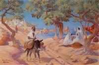 sur la côte, dans le golfe de hammamet, tunis by paul-loys armand