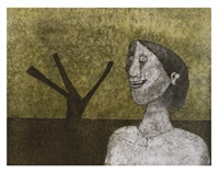 mujer sonriente by rufino tamayo