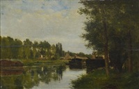 le canal by charles théodore sauvageot