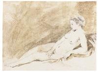 a reclining nude girl by aert de gelder