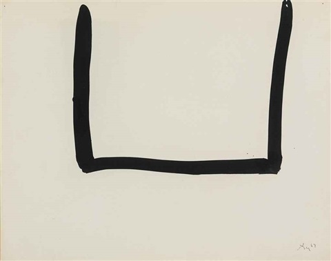 untitled open drawing by robert motherwell