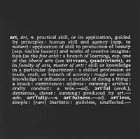 titled (art as idea as idea) (art) by joseph kosuth