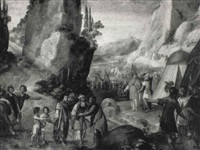 scène biblique (abraham et melchisédech?) by luca mombello