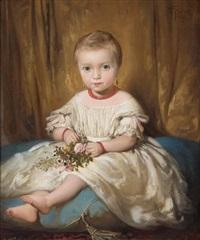 niña sentada sobre un cojín by dionisio fierros